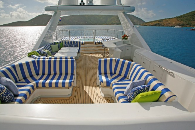 Superyacht CASTELLINA - Sundeck