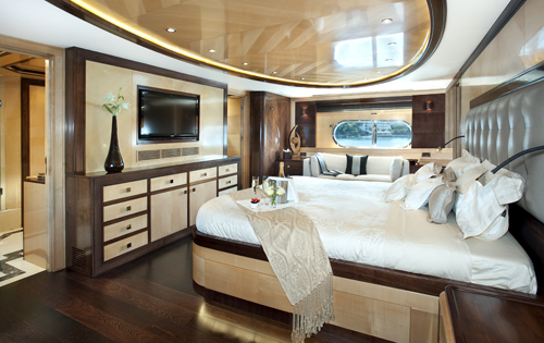 Superyacht CHRISTINA G - Master suite