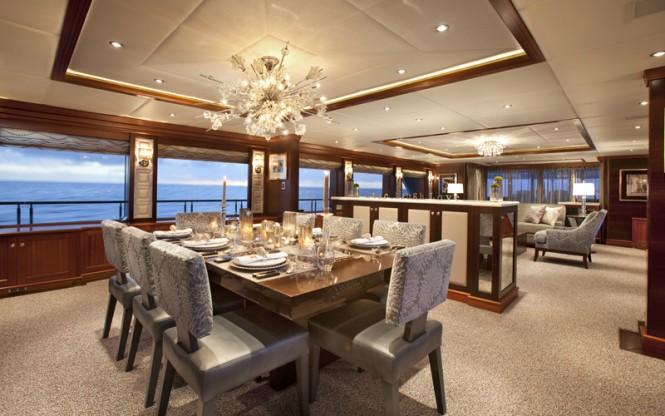 Superyacht ROCKSTAR - Formal dining area