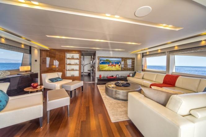 The skylounge aboard luxury yacht ANKA