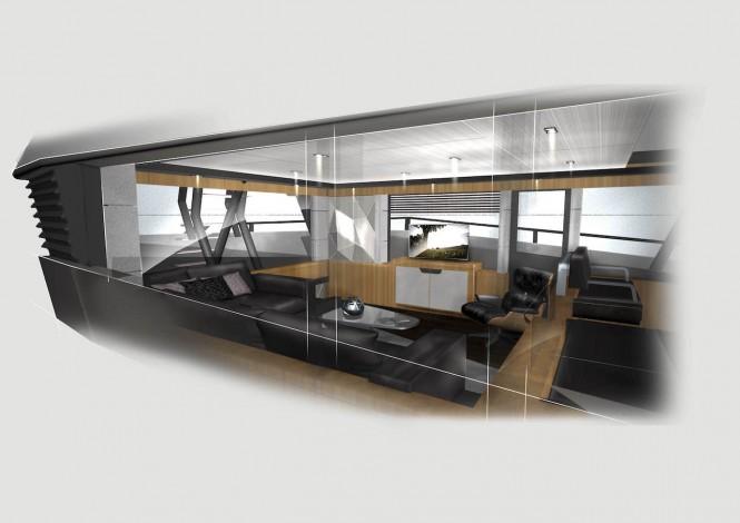 Vripack & Evadne Motor yacht Rock - skylounge