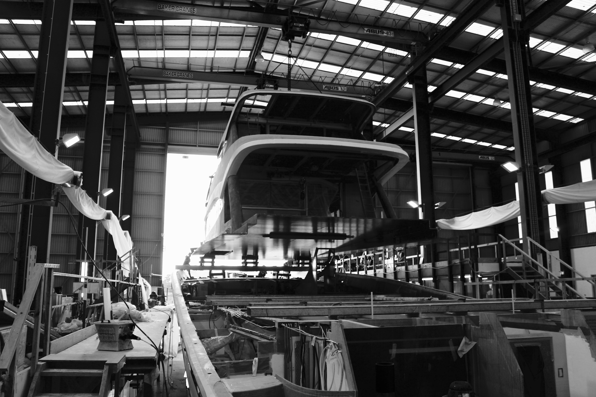 Yachting Developments New Zealand - motor yacht Hull1015 - nearing completion