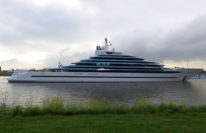 110m Mega Yacht Jubilee on sea trials. Photo- © Dutch Yachting & @thenauticallady
