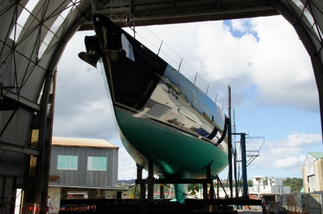 43M Superyacht Bella Ragazza Ready For Roll-out From Shed A Oceania Marine Shipyards
