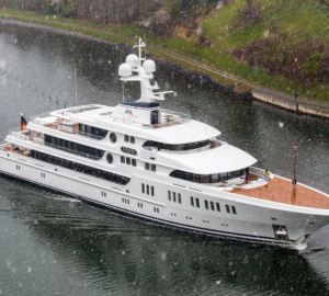 Lurssen Superyacht Aurora on Sea Trials