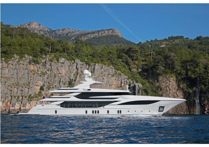 Benetti motor yacht FB 703 - rendering