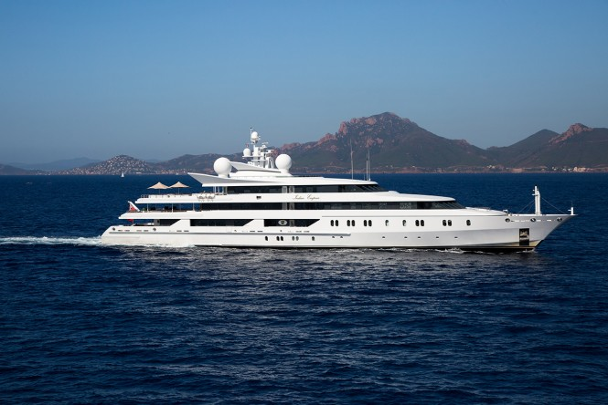 Superyacht INDIAN EMPRESS for charter in the Eastern Mediterranean