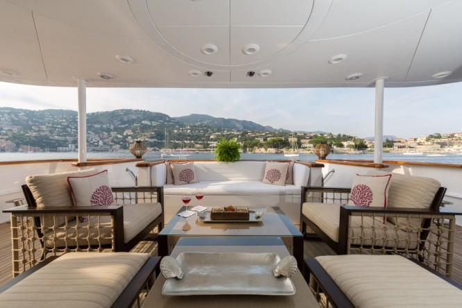 Luxury yacht BINA - Main deck aft