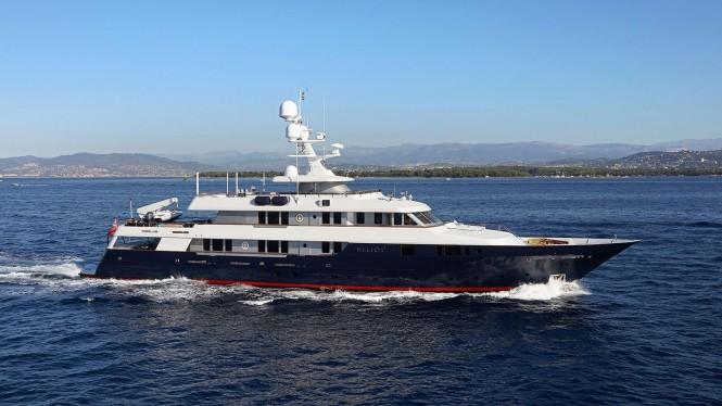 Luxury yacht HELIOS 2. Photo credit: Palmer Johnson