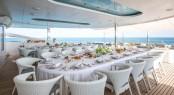 Luxury yacht MOONLIGHT II - Alfresco dining