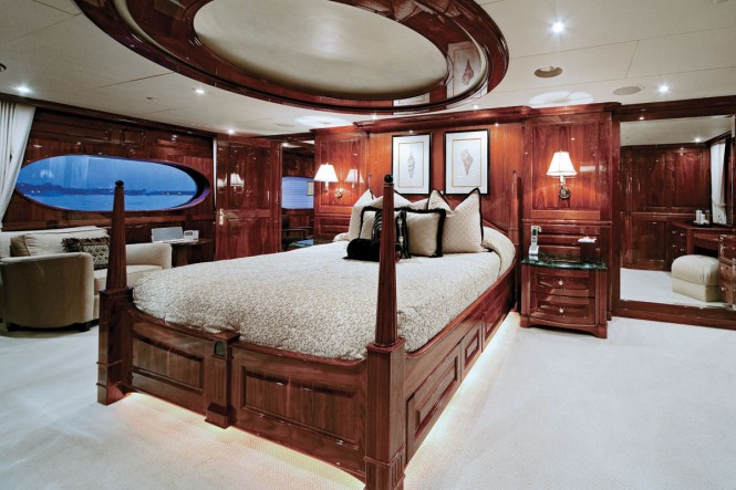 Luxury yacht ONE MORE TOY - Master suite with its own office