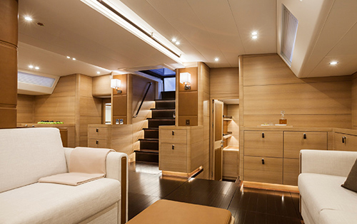 Luxury yacht SHAMANNA - Lower salon