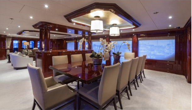 Luxury yacht THREE FORKS - Formal dining