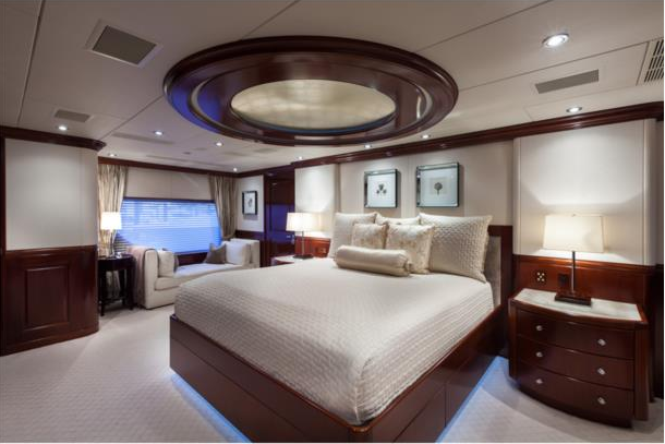 Luxury yacht THREE FORKS - Master suite