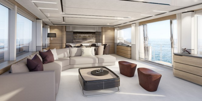 M/Y KOHUBA - Main salon Image credit: Princess Yachts