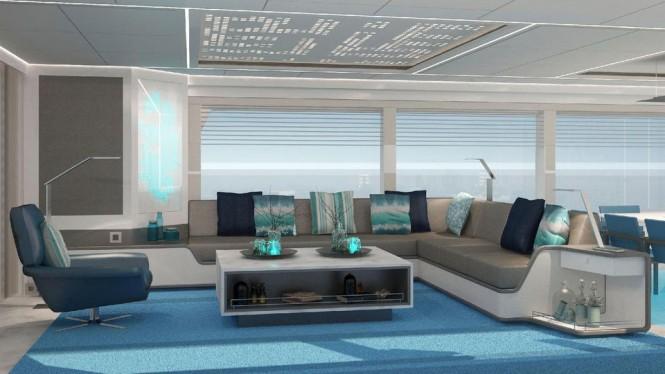 Mengi Yay motor yacht Project Serenitas- interior renderings