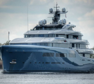 98m Mega Yacht Aviva is in the UK to Meet Her Owner