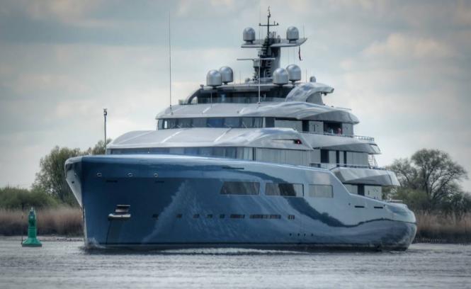 Motor yacht Aviva. Photo credit @patrickfranciscarr