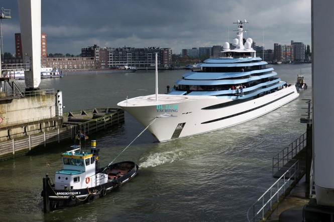 Oceanco mega yacht Jubilee on sea trials. Photo- © Dutch Yachting & @thenauticallady