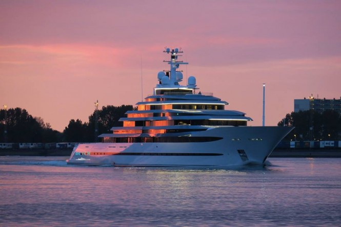 Oceanco motor yacht Al Menwar (ex. Project Jubilee) finished her sea trials. Photo credit Dutch Yachting