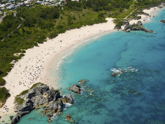One of the many beautiful beaches in Bermuda. Photo credit Bermuda Tourism Authority