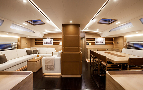 S/Y SHAMANNA - Salon and formal dining area