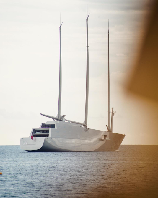 Sailing Yacht A in Monaco. Photo credit @atropatesis