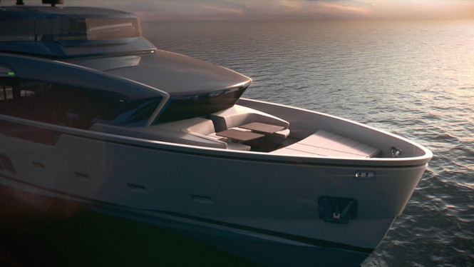 Sanlorenzo-SX88-yacht-foredeck - rendering