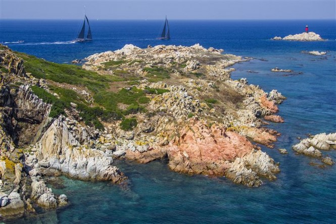 Scenic Costa Smeralda in the fabulous Italian yacht charter destination of Sardinia. Photo by Rolex Carlo Borlenghi