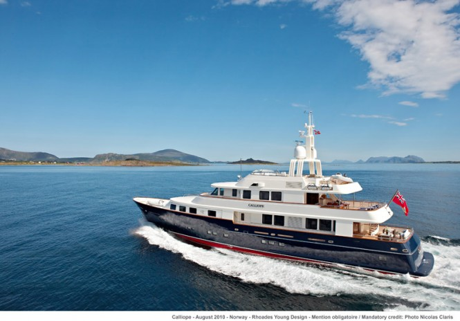 Superyacht NINKASI (ex.CALLIOPE) - Built by Hoilland Jachtbouw. Photo credit Nicolas Claris
