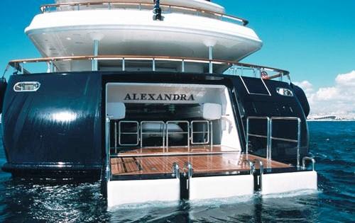 Yacht ALEXANDRA - Swim Platform