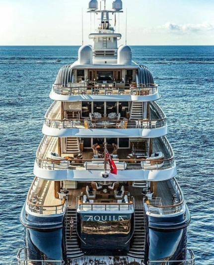 Motor yacht Aquila. Photo by Rupert Pearce