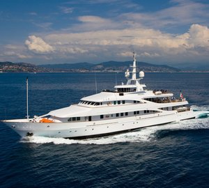 Charter opulent superyacht INSIGNIA in the Mediterranean this summer