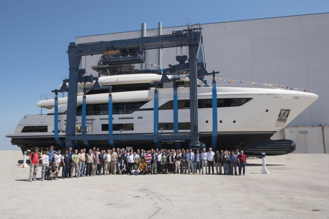 Custom Line Navetta 37 hull #3 launch