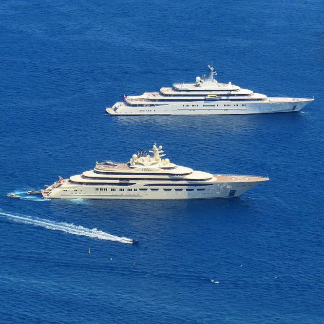 Dilbar and Eclipse in Monaco. Photo by Carol Feith