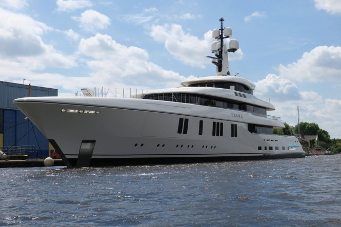 Feadship Superyacht Hasna. Photo credit Dutch Yachting