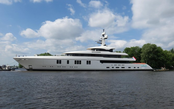 Feadship motor yacht Hasna. Photo credit Dutch Yachting