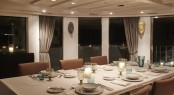 Fine dining setting aboard MENORCA - Photo credit Mare e Terra