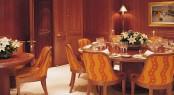 Formal dining aboard luxury yacht JASALI II