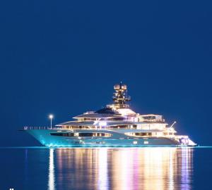 95m Mega Yacht Kismet in Cagnes Sur Mer