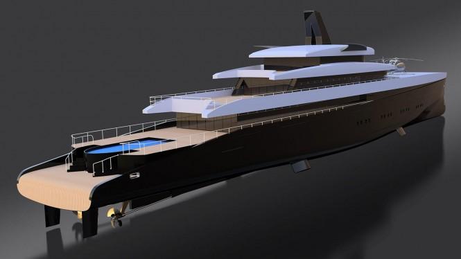 Laurent Giles superyacht concept Hemy 110m