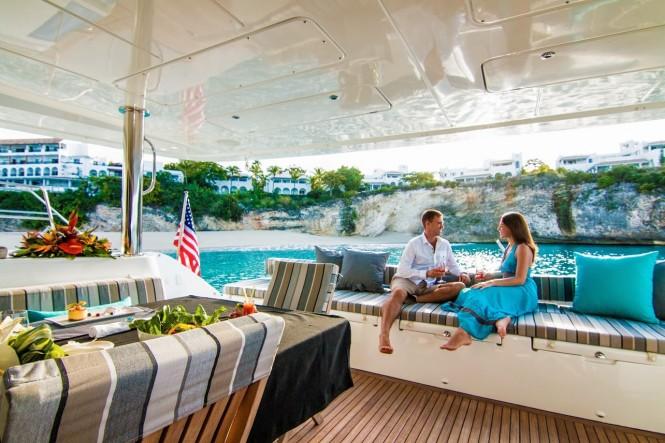 Luxury yacht LADY KATLO - Aft deck