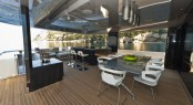 Luxury yacht M'OCEAN - Upper deck aft