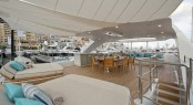 Luxury yacht SCORPION - Sundeck sunpads, seating and alfresco dining