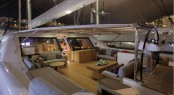 Luxury yacht STATE OF GRACE - Cockpit lounging area