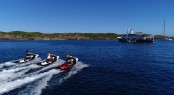 MENORCA - Fantastic superyacht lifestyle and selection of water toys - jetskis with models - Photo credit Mare e Terra