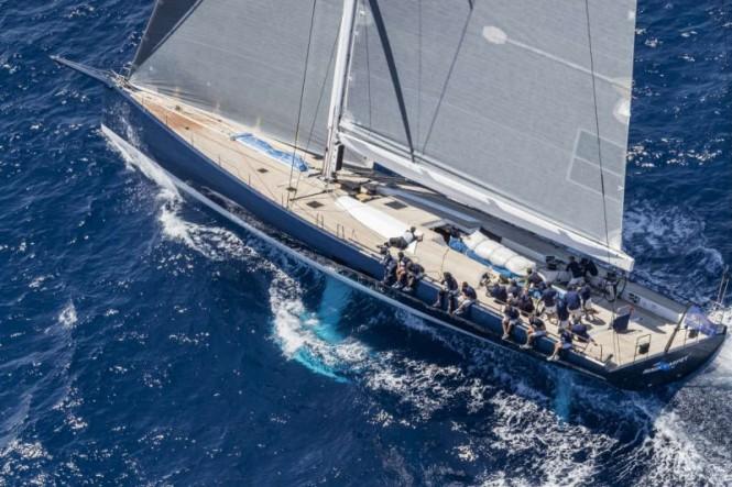Magic Carpet³ - Winners of the Wally Class at the Loro Piana Superyacht Regatta, Sardinia, 2017. Photo credits Borlenghi, YCCS and BIM