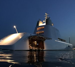 Spectacular Mega Yachts A spotted in Monaco during F1 Weekend