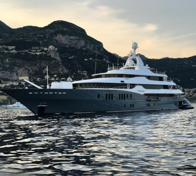 Motor Yacht Titan in Monte Carlo. Photo via @theyachtguy