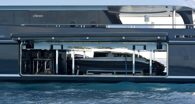 PHOENIX 2 tender storage - Photo credit Lurssen